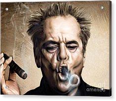 Jack Nicholson Acrylic Print by Andrzej Szczerski