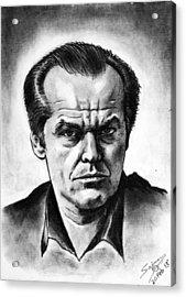 Jack Nicholson Acrylic Print by Salman Ravish