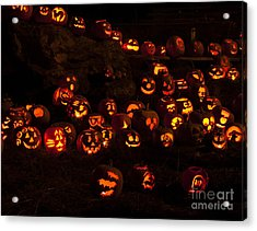 Jack-o-lanterns Acrylic Print by Inge Riis McDonald