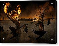 Jack-o\'-scarecrow Acrylic Print