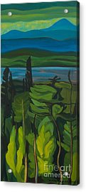 Jack Pine And Poplar Detail Acrylic Print by Janet McDonald