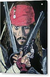 Jack Sparrow Johnny Depp Acrylic Print