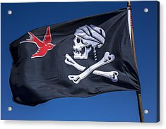 Jack Sparrow Pirate Skull Flag Acrylic Print by Garry Gay