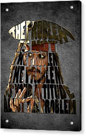 Jack Sparrow Quote Portrait Typography Artwork Acrylic Print