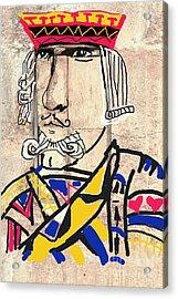 Jack The King Acrylic Print by Joe Jake Pratt