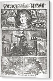 Jack The Ripper Murders, 1888 Acrylic Print by British Library