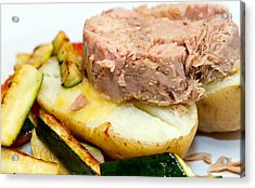 Jacket Potato With Tuna Filling Acrylic Print by Fizzy Image