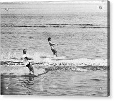 Jackie & John Glenn Water Ski Acrylic Print by Underwood Archives