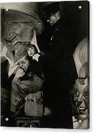 Jackie Coogan With A Policeman Acrylic Print by Edward Steichen