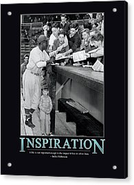 Jackie Robinson Inspiration Acrylic Print by Retro Images Archive