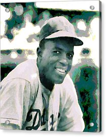 Jackie Robinson Poster Acrylic Print by Dan Sproul