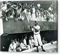 Jackie Robinson Signs Autographs Vintage Baseball Acrylic Print