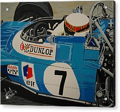 Jackie Stewart Acrylic Print by Jose Mendez