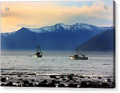 Acrylic Print featuring the photograph Jackson Bay South Westland New Zealand by Amanda Stadther