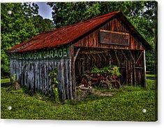 Jackson Garage Acrylic Print by Russ Burch