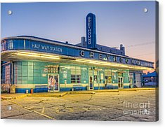 Jackson Greyhound Bus Station I Acrylic Print by Clarence Holmes