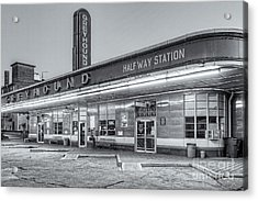 Jackson Greyhound Bus Station Iv Acrylic Print by Clarence Holmes