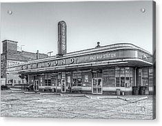 Jackson Greyhound Bus Station Vi Acrylic Print by Clarence Holmes