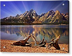 Jackson Lake Mt. Moran Acrylic Print by Marty Koch