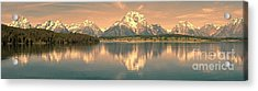 Jackson Lake Sunrise - Grand Teton Acrylic Print