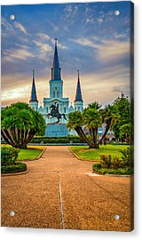 Jackson Square Cathedral Acrylic Print by Steve Harrington