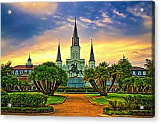 Jackson Square Evening - Paint Acrylic Print