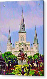 Jackson Square In The French Quarter Acrylic Print by Bill Cannon