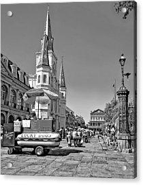 Jackson Square Monochrome Acrylic Print by Steve Harrington