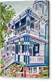 Jackson Street Inn Of Cape May Acrylic Print
