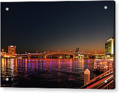 Jacksonville Acosta Bridge Acrylic Print by Christine Till