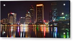 Jacksonville Aglow Acrylic Print by Frozen in Time Fine Art Photography