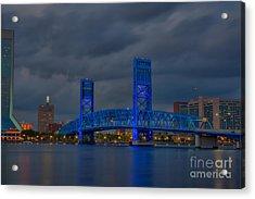 Jacksonville Blue Bridge Hdr Acrylic Print
