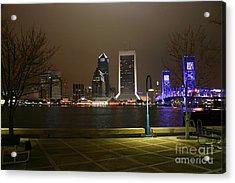 Jacksonville Riverwalk Night Acrylic Print