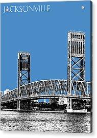 Jacksonville Skyline 2  Main Street Bridge - Slate Blue Acrylic Print by DB Artist