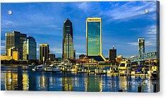 Jacksonville Skyline Sunset Acrylic Print
