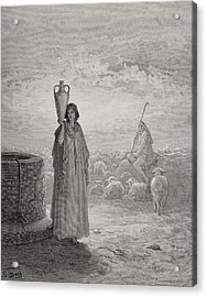 Jacob Keeping Laban's Flock Acrylic Print by Gustave Dore