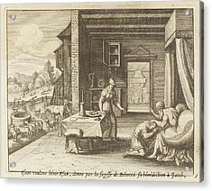 Jacob Pretends To Be Esau And  Tricks Acrylic Print