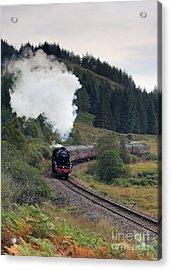Jacobite Steam Train Acrylic Print by Maria Gaellman