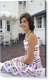 Jacqueline Kennedy At Hyannis Port 1959 Acrylic Print