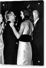 Jacqueline Kennedy Dancing Acrylic Print by Retro Images Archive