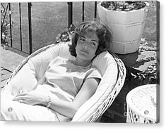 Jacqueline Kennedy Relaxing At Hyannis Port 1959. Acrylic Print