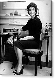 Jacqueline Kennedy Sitting Pretty Acrylic Print by Retro Images Archive