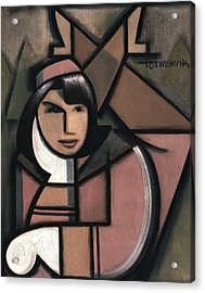 Art Deco Jacqueline Kennedy Art Print Acrylic Print