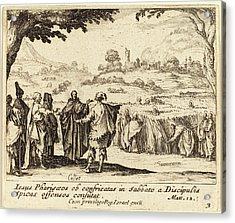 Jacques Callot French, 1592 - 1635, Jesus With The Pharisees Acrylic Print