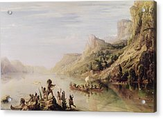 Jacques Cartier 1491-1557 Discovering The St. Lawrence River In 1535, 1847 Oil On Canvas Acrylic Print