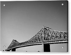 Jacques Cartier Bridge Montreal Metro 1 Acrylic Print by Eric Soucy