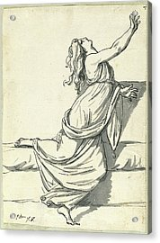 Jacques-louis David, A Distraught Woman With Her Head Acrylic Print