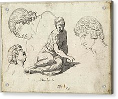 Jacques-louis David, Dice-thrower And Other Studies Acrylic Print