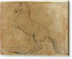 Jacques-louis David, French 1748-1825, An Antique Sculpture Acrylic Print