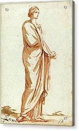 Jacques-louis David, French 1748-1825, Roman Statue Acrylic Print